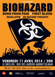 BIOHAZARD + BORN FROM PAIN + FIRST BLOOD + DESOLATED – Grillen – Colmar (68)