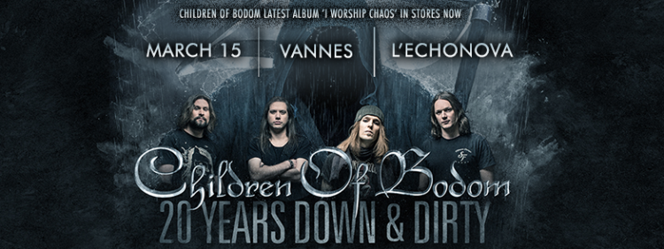 [Preview] Children of Bodom + Forever Still + ONI – 15.03 – Echonova – Vannes (56)