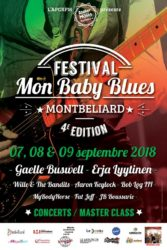 Preview – Mon Baby Blues Festival  Montbéliard  Du 06 au 09 Septembre 2018